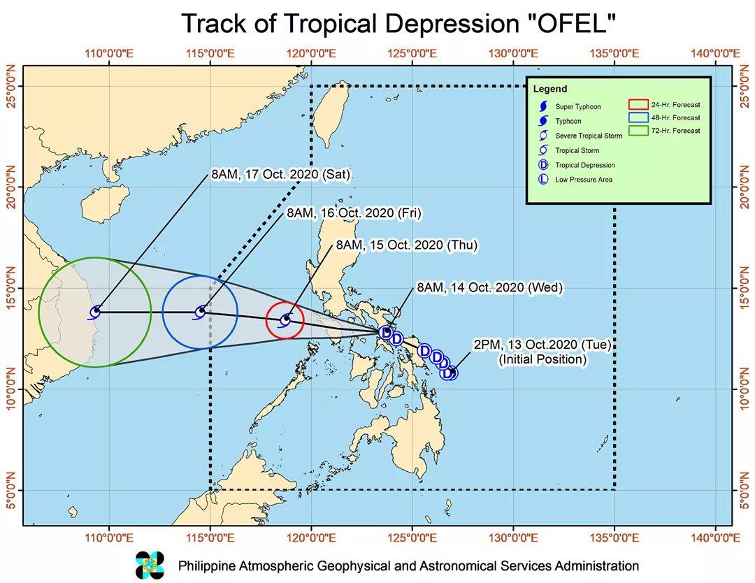 TD Ofel makes 3rd landfall over Masbate - Bohol Island News